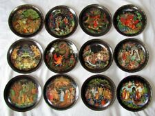 Bradford Exchange Russian Fire Bird Series Plates Complete set of 12.