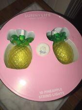 Pineapple 10 Lantern String Lights NIB Sunny Life