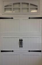 Garage Door Deluxe Decorative Hardware Kit  - Hinges & Handles - Includes Screws
