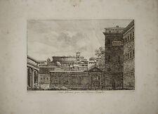 stampa antica Palazzo Rospigliosi Rossini Roma kupferstich old print gravure