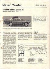 Sunbeam Alpine Series II Motor Trader Service Data No. 395 1962