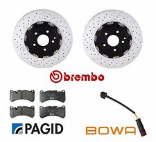For Mercedes CLK55 SLK55 AMG 2005-2007 Front Disc Brake Kit Rotors Pads & Sensor