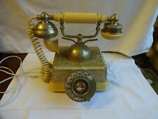 VINTAGE RADIO SHACK TELEPHONE Antique Continental Cradle Style dial phone WORKS