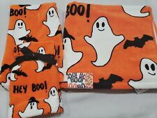 4pc Halloween Ghost Bath Hand Fingertip Bath Towel Set Nwt