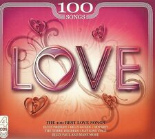 LOVE  THE 100 BEST LOVE SONGS - 4 CD BOX SET ELVIS, BILLY OCEAN, ODYSSEY & MORE
