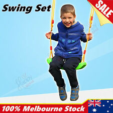 Indoor Outdoor Swing Set Garden Tree Rope Seat Chair Swings Children Plastic OZ