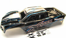 X-MAXX BODY cover Shell (Blue updated 8s Painted ProGraphics New Traxxas 77086-4