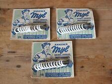 + Set de 3 plaques d'anneaux à rideaux Myl - Mercerie années 50 +