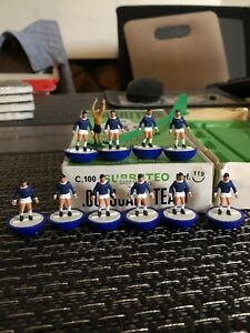 Subbuteo Hw team Reference 119 Everton In Reference Box