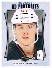 16-17 Upper Deck PORTRAITS GOLD xx/99 Made! Steven SANTINI #P64 - Devils Rookie