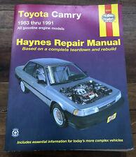 Haynes Repair Manual 92005 1983 thru 1991Toyota Camry All Gasoline Engine Models