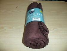 """Duke Stevens - New Fleece Blanket - Brown - 50"""" x 60"""" - No Plastic Bag - New"""