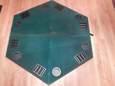 Poker Blackjack Table Top Green Felt Foldable 6 Player Octagon Bag Card Game