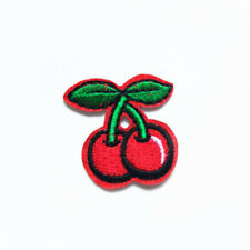 Cute Cherry Fruit Embroidered Patch Sewing Iron on Badge Applique For Coat Shirt