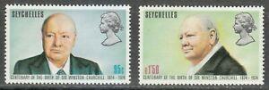 Seychelles 1974 MNH Sc 321-322 Sir Winston Churchill **