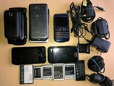 Cell Phone Lot Phones(18) Batteries(6) and Chargers(5) Untested- For Parts