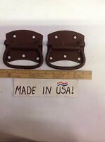 """2 - Stanley Antique New 5"""" spring loaded Box Handles USA Heavy Duty"""