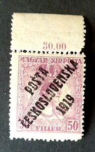 CEZCH 1919 OVERPRINT Hungarian Port stamp / PORTO HONGROIS / RARE HIGH VALUE