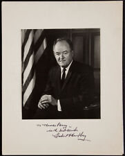 Hubert H Humphrey Signed 11x14 Matted 8x10 Photo Lyndon Johnson's Vice President