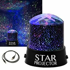 CHILDRENS STAR MASTER NIGHT LIGHT SKY LED PROJECTOR LAMP KIDS with USB Cable