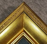 "4"" Wide Gold Plein Air Period Style Oil Painting Wood Picture Frame M4G"