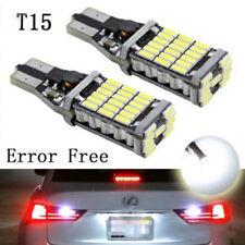 1pair 45SMD 6000k White 921 T10 T15 Backup Reverse LED Lights Error Free Bulbs