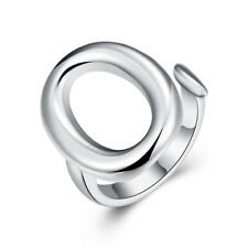 Sex Oval Ring Open Adjustable Silver Plated New Design Finger Ring For Lady CG