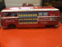 Vintage Tin Litho Volkswagen Coca-Cola delivery van  Tin Friction Rare Japan