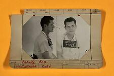 Original 1960s Pontiac Michigan Police Department Criminal Mug Shot