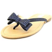 Sandalias y chanclas de mujer de color principal azul de lona talla 37