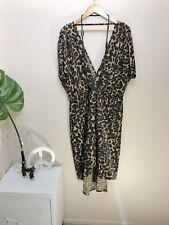City Chic M 18 Leopard Dress Plus Size Stretch Animal Print