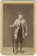 Photo Anonyme Carte de Visite Cdv Homme au Fusil Chasseur Vers 1870