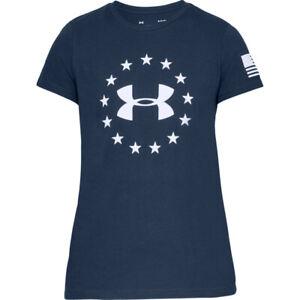 Under Armour 1333372 Women's UA Freedom Logo T-Shirt Athletic Short Sleeve Tee
