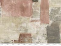Dekostoff, Digital, gemalte Rechtecke, grau-altrosa, 140cm