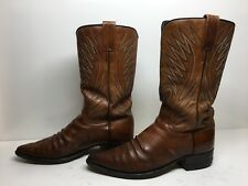 VTG MENS DAN POST COWBOY BROWN BOOTS SIZE 10 B