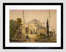 PAINTINGS LANDSCAPE AYA SOFYA MOSQUE ISTANBUL ISLAM HAGHE FRAMED PRINT B12X10940