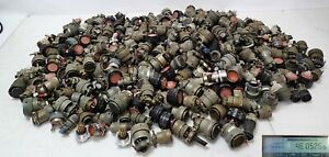 44.47 lbs. MIL-SPEC AIRCRAFT SCRAP GOLD CONNECTORS WITH GOLD PINS for RECOVERY