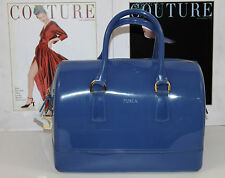 FURLA CANDY BLUE JELLY BAULETTO SATCHEL    100% AUTHENTIC     MSRP$258+TAX