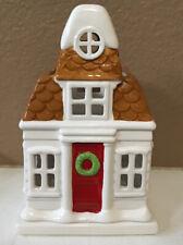 "2010 Slatkin & Co. Bath And Body Works Christmas House Luminary 7 1/2"""