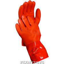 1 Pair Atlas 460 PVC Coated Snow Blower Insulated Fleece Lined Gloves Size Large