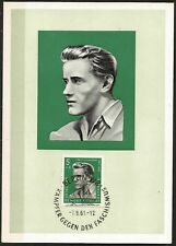 Germany East DDR GDR Maxicard 1961 Concentration Camp Victim Carlo Schoenhaar