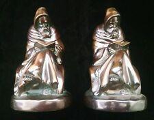 Armor Bronze Co. Reading Monk Bookends Taunton Mass