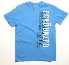 Ecko Vertical Ecko Henley Tee (M) Blue EK03905