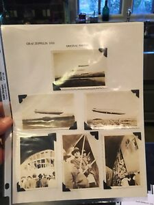 16 Original 1930 Vintage Graf Zeppelin Photographs