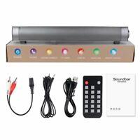 TV Speaker Soundbar Bluetooth Wireless Home Theater Sound Bar /w Remote