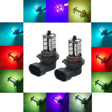 2 PCS Car LED Fog Light Bulbs 5050SMD 27 Chips RGB 16Colors Remote Control 3000H