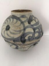 Ming porcelain globe shaped jar with export approval seal mark