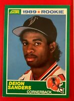 NFL DEION SANDERS Falcons 1989 Score ROOKIE Trading CARD #246