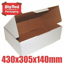 20 x White Mailing Carton 430 x 305 x 140mm Sturdy Strong Mailer BT Box A3 Size