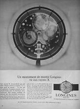 PUBLICITÉ 1966 MONTRE LONGINES VU AUX RAYONS X - ADVERTISING